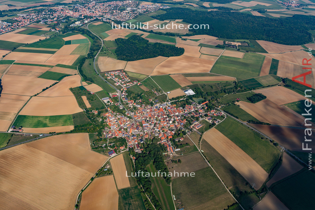 welbhausen-19-687 | aktuelles Luftbild von Welbhausen   - Luftaufnahme wurde 2019 von https://frankenair.de mittels Flugzeug (keine Drohne) erstellt.