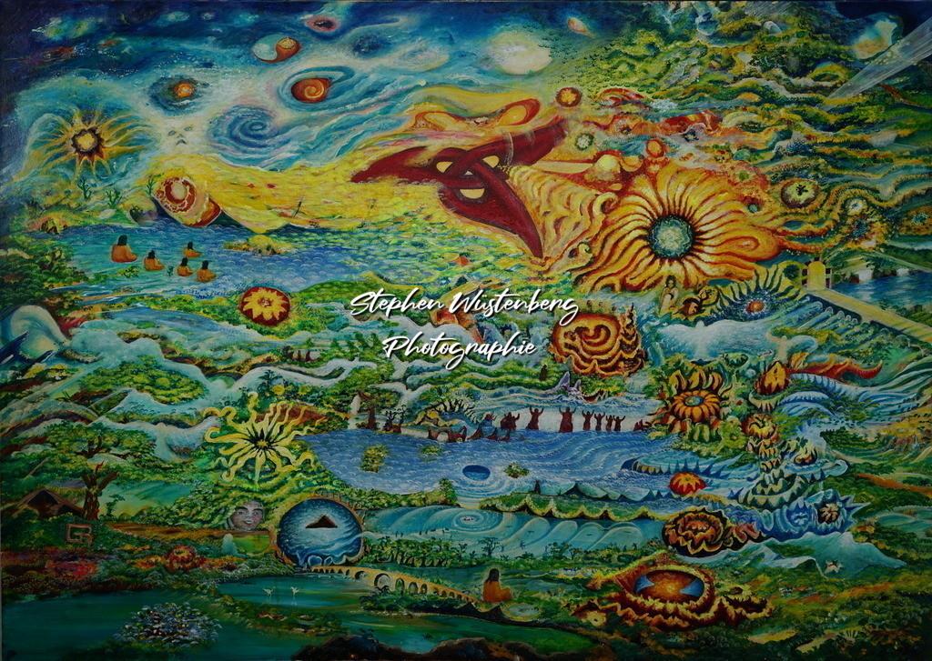 Gingel-0052 Dreifaltigkeit (Reden, Denken, Handeln) | Roland Gingel Artwork @ Gravity Boulderhalle, Bad Kreuznach