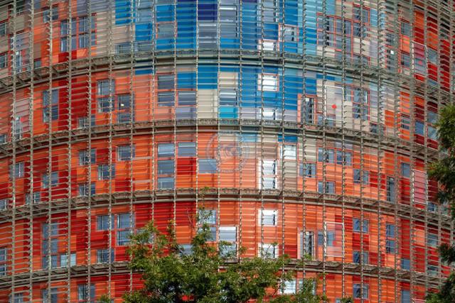 Torre Agbar Detail Aussenfassade | ESP, Spanien, Barcelona, 17.12.2018, Torre Agbar Detail Aussenfassade [2018 Jahr Christoph Hermann]