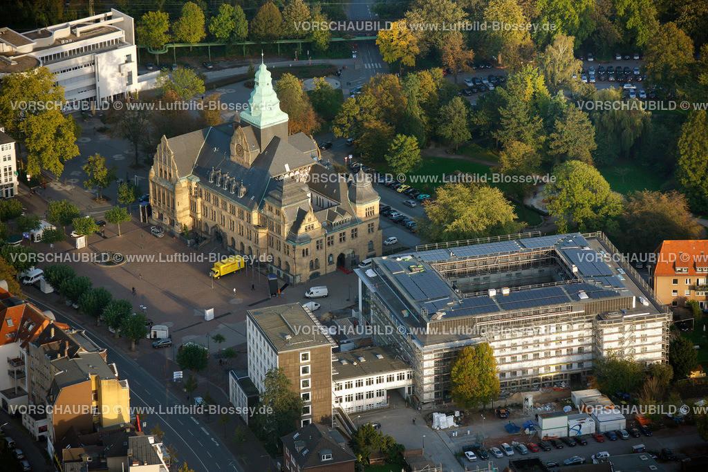 RE11101611 | Rathaus mit neuem Stadthaus,  Recklinghausen, Ruhrgebiet, Nordrhein-Westfalen, Deutschland, Europa