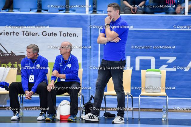 AUT, HLA, HC Linz AG vs Schwaz Handball Tirol | 09.10.2021, Sporthauptschule Linz-Kleinmuenchen, AUT, HLA, HC Linz AG vs  Schwaz Handball Tirol, im Bild Milan Vunjak, Head Coach HC Linz AG (Linz)