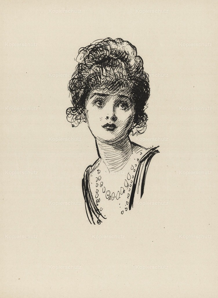 Gibson_ Charles Dana (1867-1944) - Gibson New Cartoons 1916 - Girl with necklace 2