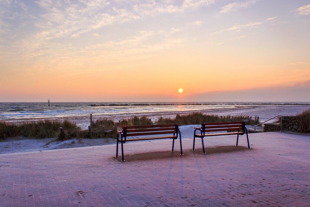 Sonnenaufgang an der Ostsee | Sonnenaufgang am Strand in Damp