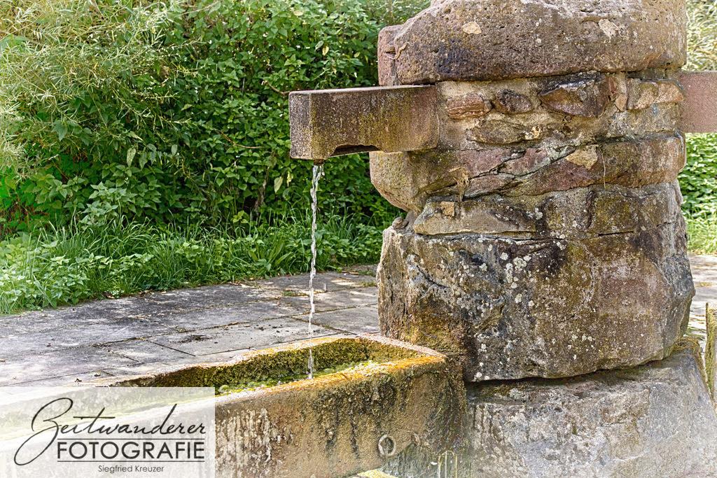 Brunnen   Brunnen beim Römerbad in Walldürn