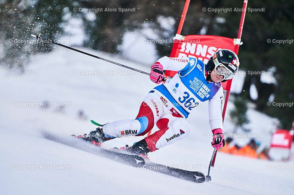 ALS5464_WWMG_GS-II_C   (C) FotoLois.com, Alois Spandl, WinterWorldMastersGames 2020 Innsbruck, Giant Slalom-II Gruppe C Damen, Patscherkofel Olympiaabfahrt, Mi 15. Jänner 2020.