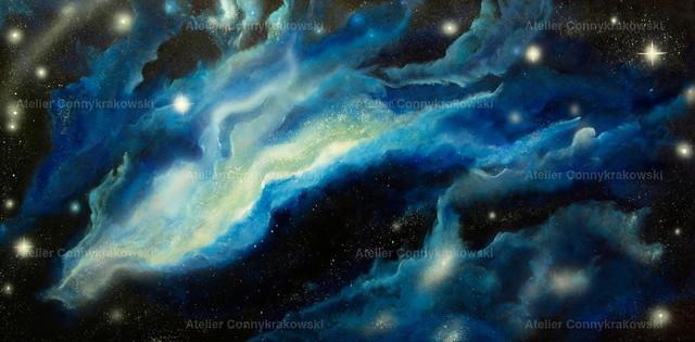 Space | Phantastischer Realismus aus dem Atelier Conny Krakowski. Verkäuflich als Poster, Leinwanddruck und vieles mehr.