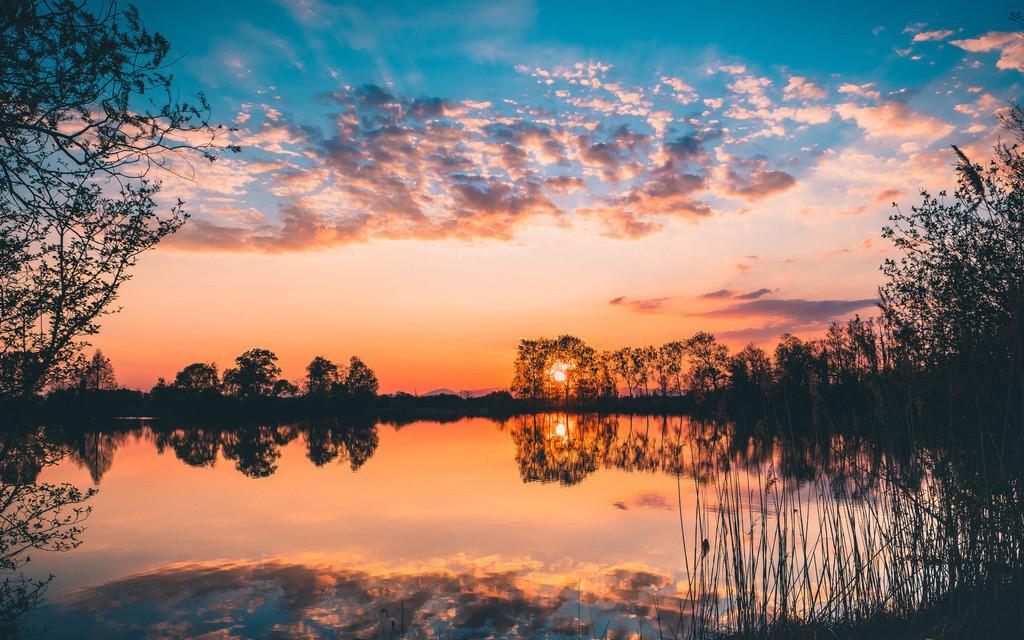 Baggersee | Baggersee im Sonnenuntergang