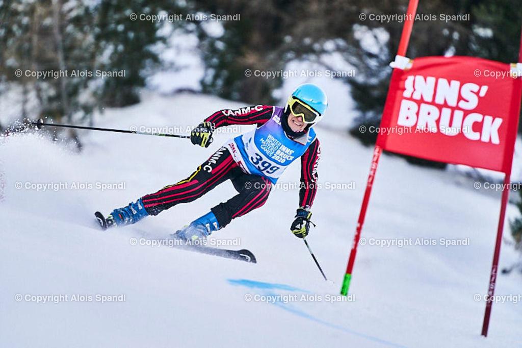 ALS5681_WWMG_GS-II_C | (C) FotoLois.com, Alois Spandl, WinterWorldMastersGames 2020 Innsbruck, Giant Slalom-II Gruppe C Damen, Patscherkofel Olympiaabfahrt, Mi 15. Jänner 2020.