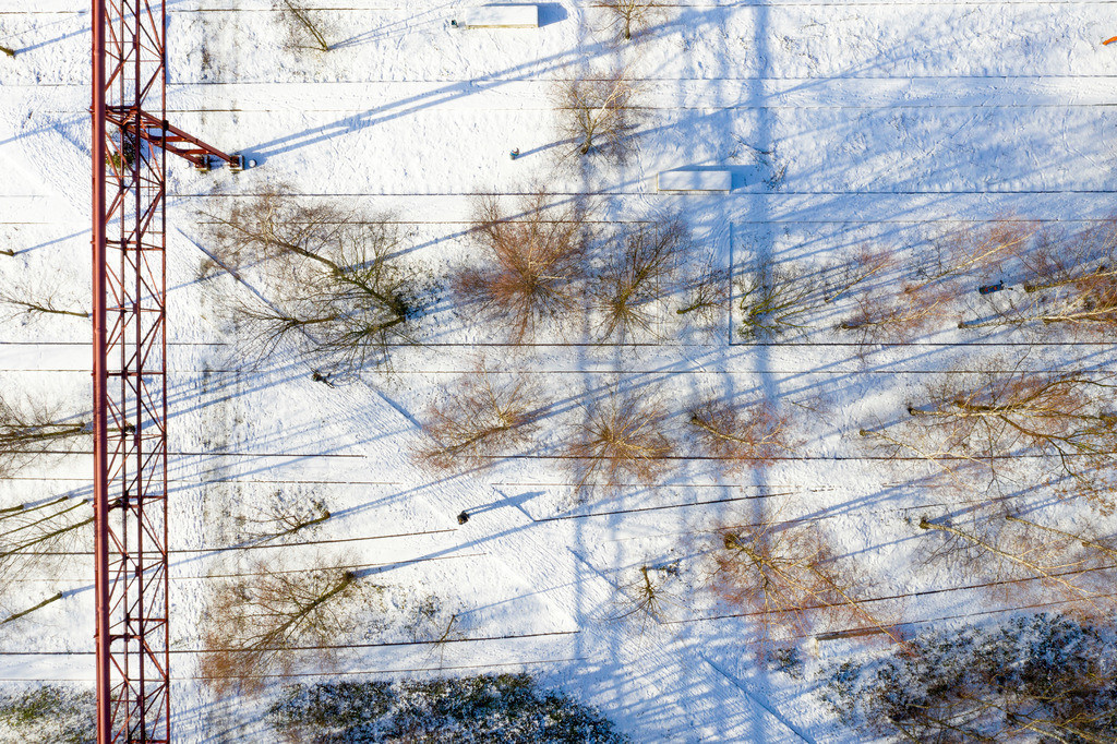 JT-190201-018 | Zollverein Park im Winter, ehemalige Gleise