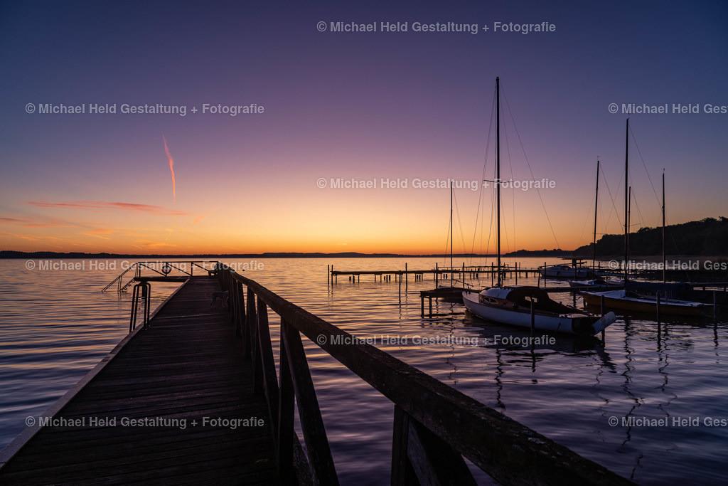 07 Juli | Sonnenaufgang am See | Badestelle mit Hafen in Grabensee am Selenter See