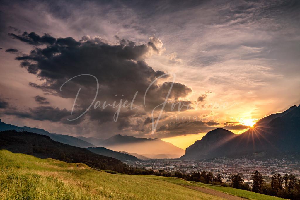 Sonnenuntergang | Sonneuntergang in Innsbruck mit Blick nach Westen