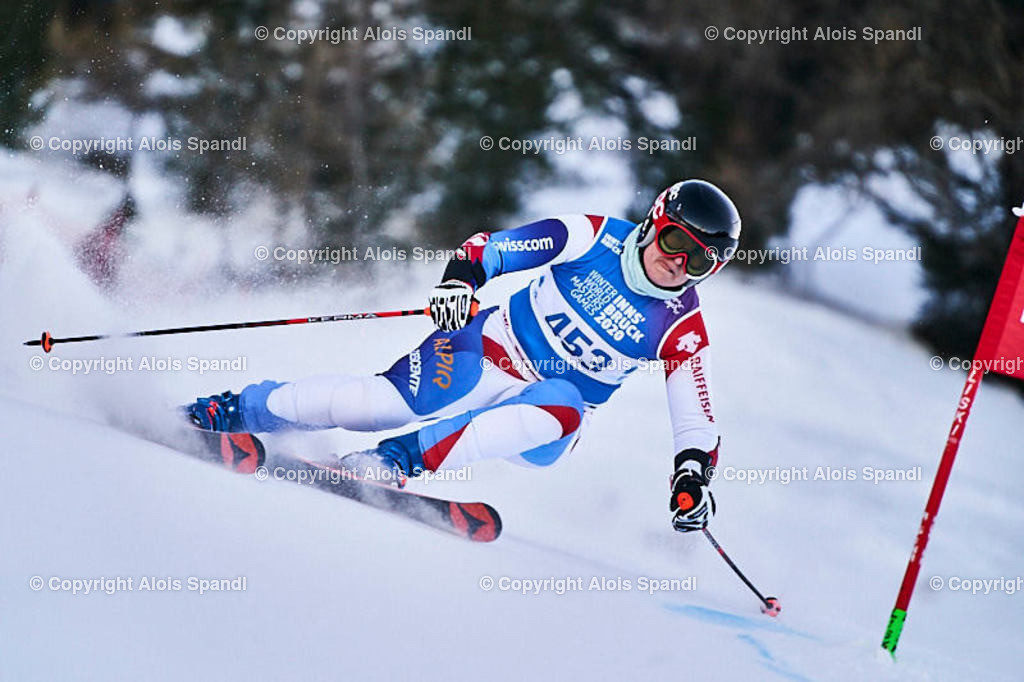 ALS5950_WWMG_GS-II_C | (C) FotoLois.com, Alois Spandl, WinterWorldMastersGames 2020 Innsbruck, Giant Slalom-II Gruppe C Damen, Patscherkofel Olympiaabfahrt, Mi 15. Jänner 2020.