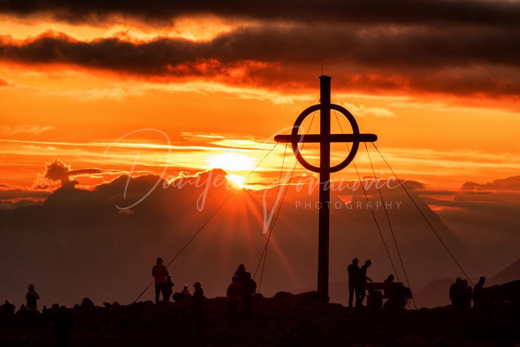 Patscherkofel | Sonnenuntergang am Gipfel des Patscherkofel