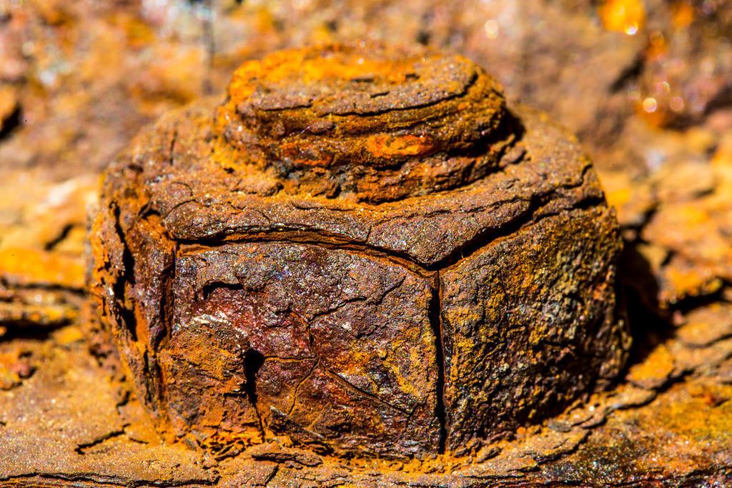 JT-160628-073 | Schraube und Mutter, Rostige Oberfläche, Metall, verrostet, verwittert, Strukturen,