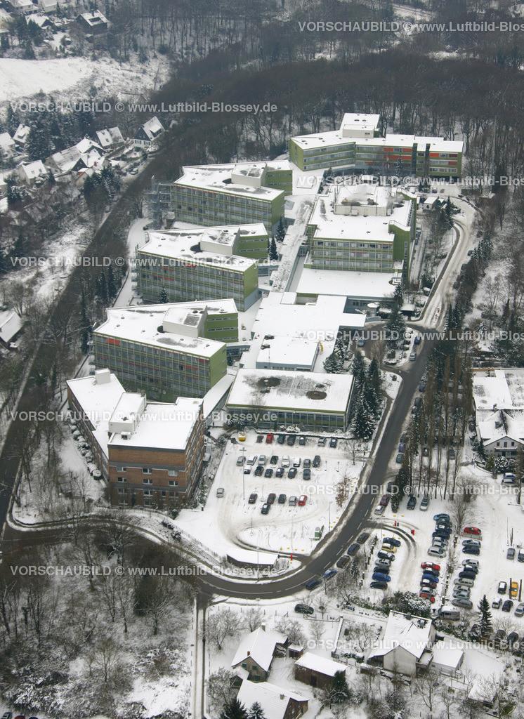 KT10011135 | Schnee,  Kettwig, Essen, Ruhrgebiet, Nordrhein-Westfalen, Deutschland, Europa, Foto: Luftbild Hans Blossey, Copyright: hans@blossey.eu, 06.01.2010, E 006° 56' 30.53