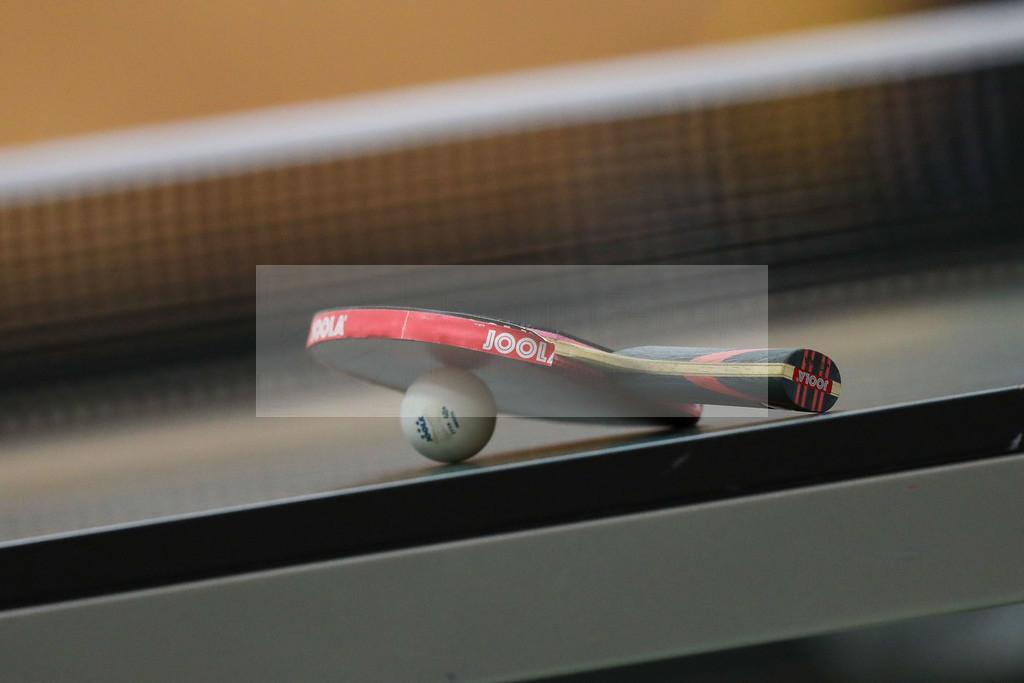 200202_lan_2899 | despor  Langstadt 1.02.2020  TT 1.BL  TSV 1909 Langstadt gegen TV Busenbach  emspor, emonline, oespor,  v.l., Symbolbild Tischtennisschläger, Tischtennis Ball Foto: Joaquim Ferreira