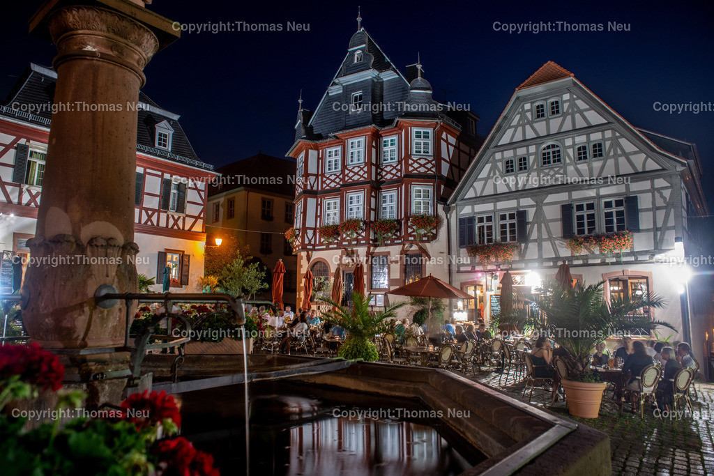Heppenheim-2 | Heppenheimer Marktplatz bei Nacht,, Bild: Thomas Neu