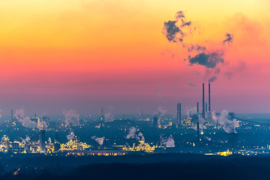 JT-160216-027 | Stahlstandort Duisburg, Kulisse der ThyssenKrupp Steel Stahlwerke, Hochöfen, in Duisburg Bruckhausen,