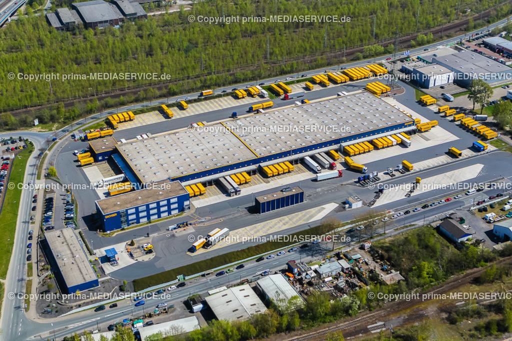 IMGL1937 | Luftbild DACHSER GmbH & Co. KG Frachtspeditionsdienst 21.04.2015 Niederlassung in Dortmund (Nordrhein-Westfalen, Deutschland).  Foto: Michael Printz / PHOTOZEPPELIN.COM