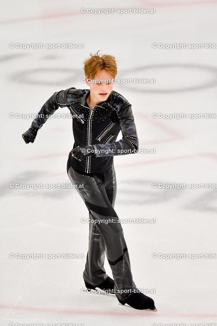 AUT, Eiskunstlaufen, Junior Grand Prix of Figure Skating 2021/2022   07.10.2021, Eishalle Linz, AUT, Eiskunstlaufen, Junior Grand Prix of Figure Skating 2021/2022, im Bild Ilia Malinin (USA) - Junior Men Short Program