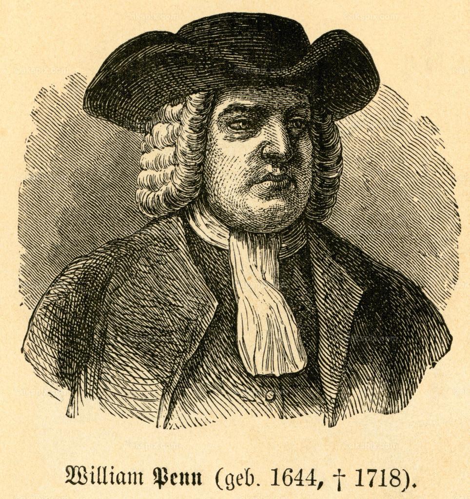 William Penn / William Penn | Europa, Großbritannien,  England, London, William Penn, Quäker, gründete Pennsylvania , Motiv aus :