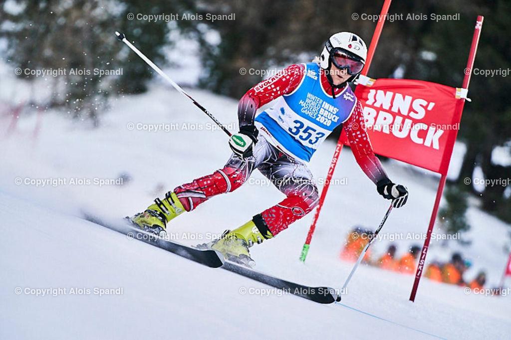 ALS5429_WWMG_GS-II_C | (C) FotoLois.com, Alois Spandl, WinterWorldMastersGames 2020 Innsbruck, Giant Slalom-II Gruppe C Damen, Patscherkofel Olympiaabfahrt, Mi 15. Jänner 2020.