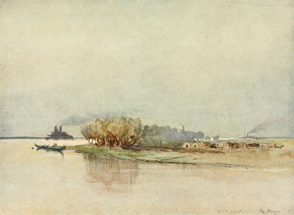 Maxwell_ Donald (1877-1936) - Naval Front 1920 - HMS Mantis on the Tigris