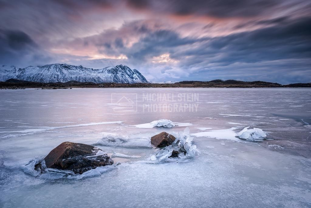 Norwegen - Fjord im Winter | Fjord im Winter bei Sonnenuntergang