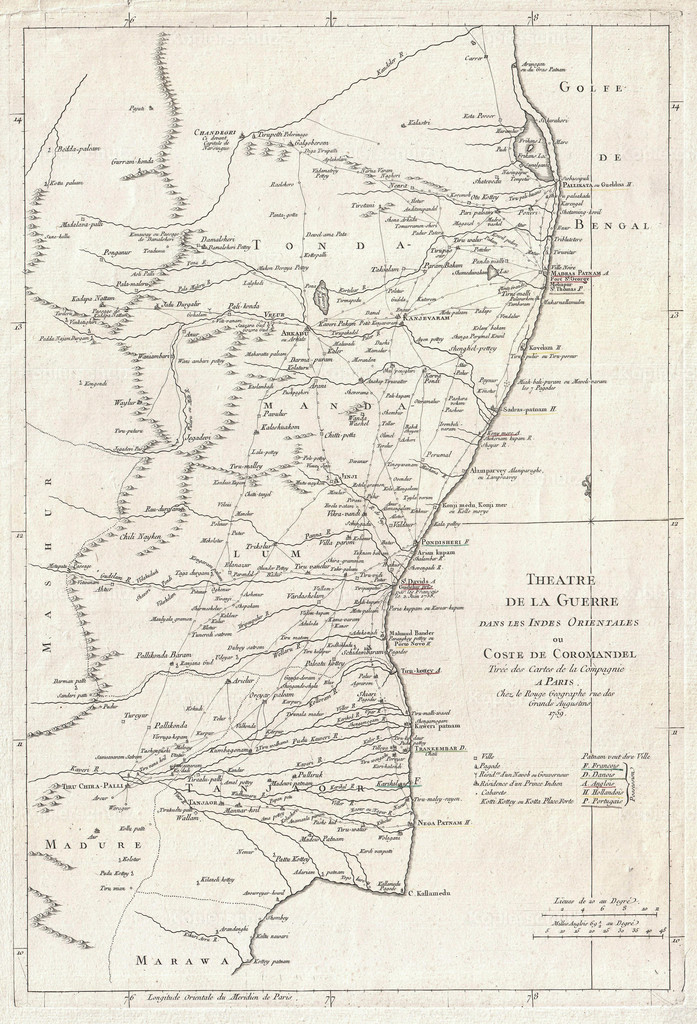 1759_La_Rouge_Map_of_Eastern_India_or_Coromandel_(Madras_and_Pondicherry)