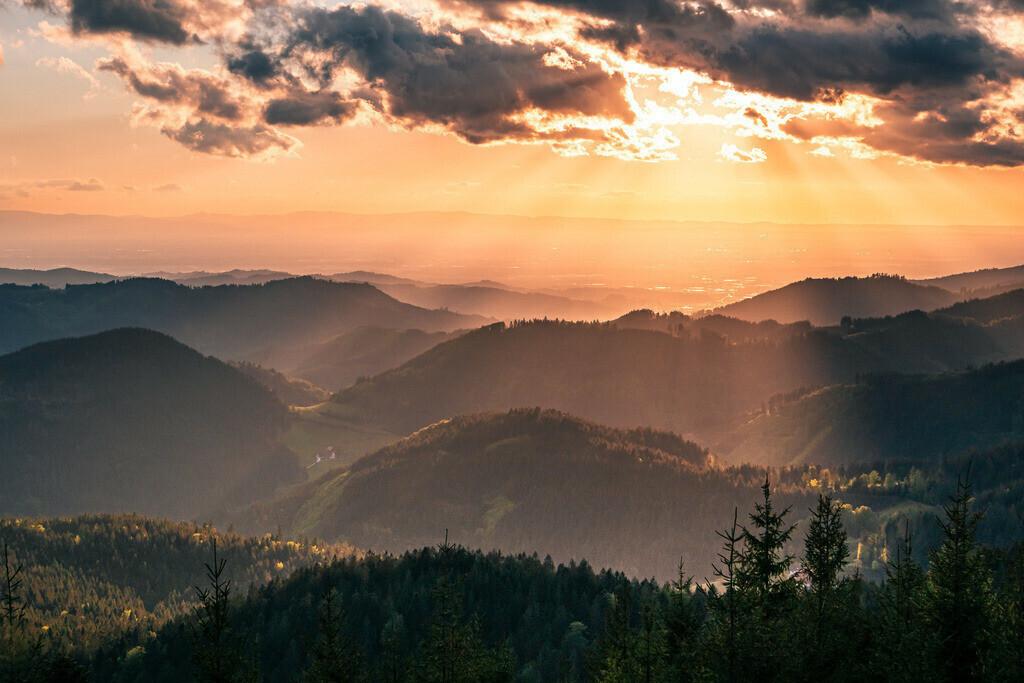 Nationalpark Schwarzwald   Traumhafte Abendstimmung an der Schwarzwaldhochstraße