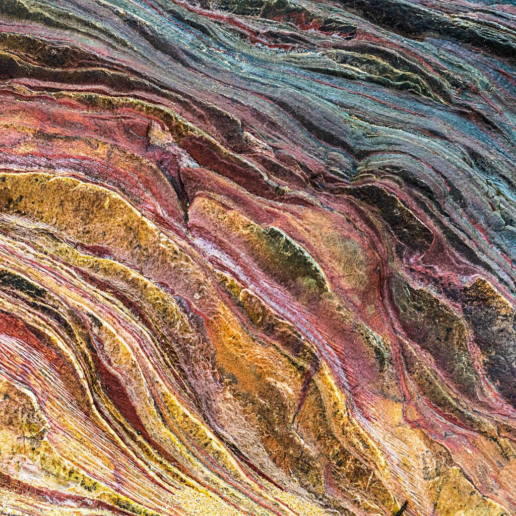 Best. Nr. Strukturen10 | Farbige Gesteinsschichten, Inishowen, Co. Donegal, Irland