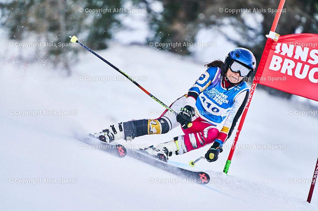 ALS5733_WWMG_GS-II_C | (C) FotoLois.com, Alois Spandl, WinterWorldMastersGames 2020 Innsbruck, Giant Slalom-II Gruppe C Damen, Patscherkofel Olympiaabfahrt, Mi 15. Jänner 2020.