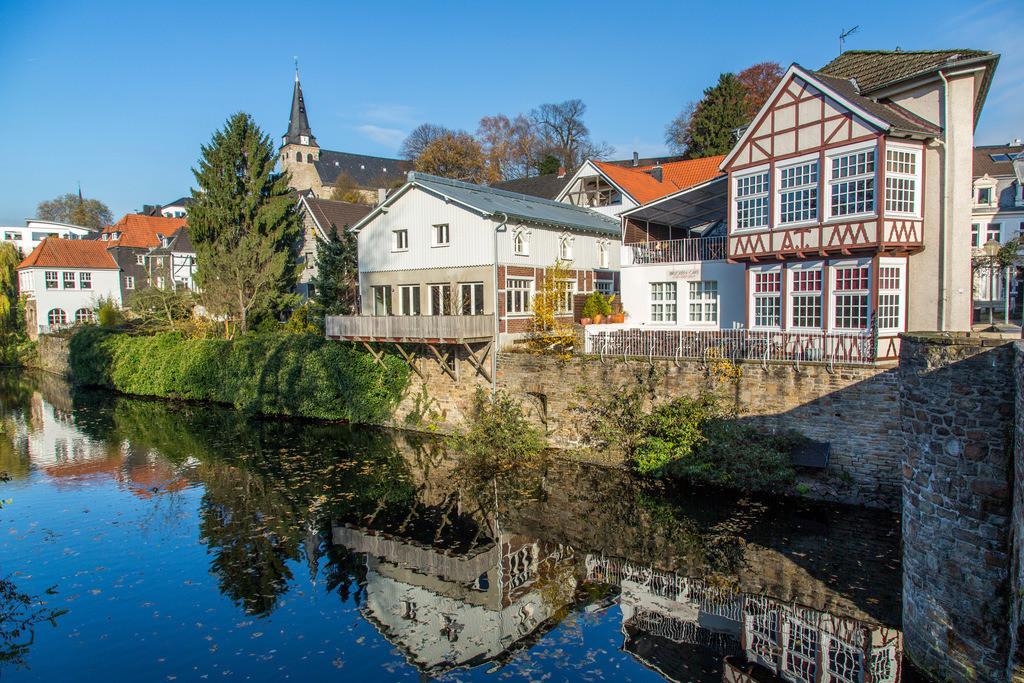 JT-131126-5989 | Essen-Kettwig, südlichster Stadtteil, an der Ruhr, Altstadt,  Marktkirche, Mühlengraben