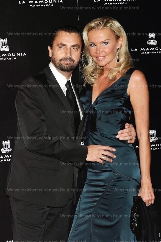 Henri Leconte und seine Frau Florentine    Henri Leconte & Florentine Leconte