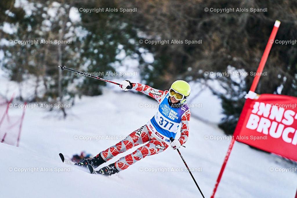 ALS5563_WWMG_GS-II_C | (C) FotoLois.com, Alois Spandl, WinterWorldMastersGames 2020 Innsbruck, Giant Slalom-II Gruppe C Damen, Patscherkofel Olympiaabfahrt, Mi 15. Jänner 2020.