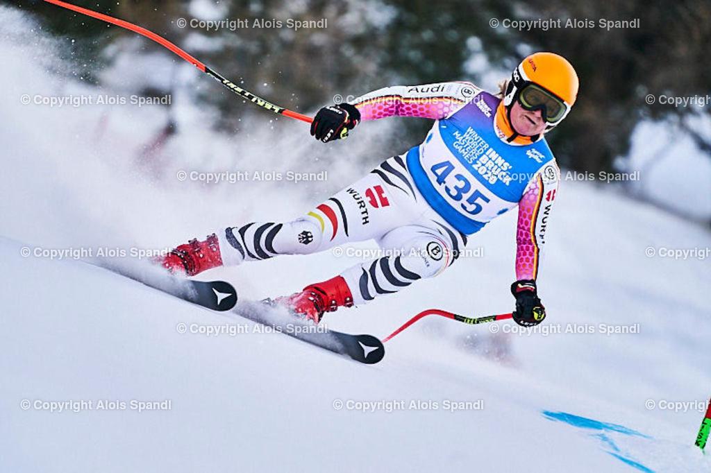 ALS5848_WWMG_GS-II_C | (C) FotoLois.com, Alois Spandl, WinterWorldMastersGames 2020 Innsbruck, Giant Slalom-II Gruppe C Damen, Patscherkofel Olympiaabfahrt, Mi 15. Jänner 2020.