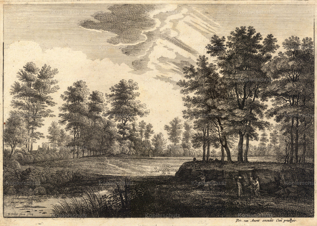 Wenceslas_Hollar_-_Wooded_landscape_(State_1)
