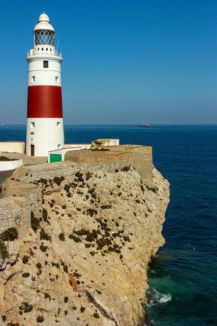 Leuchtturm - Europa Point Lighthouse | Der Europa Point Lighthouse - Leuchtturm am äußersten Ende der Landzunge von Gibraltar.
