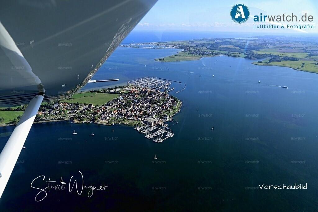 Luftbild Erholungs- und Ferienort Maasholm am Ostseefjord   Maasholm, Halbinsel, Ostseefjord, Sportboothafen, Fischereihafen, Fischerdorf • max. 6240 x 4160 pix