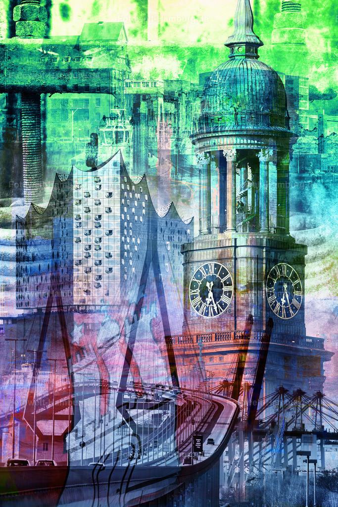 10190806 - Hamburg Collage 018 (Farbvariante)