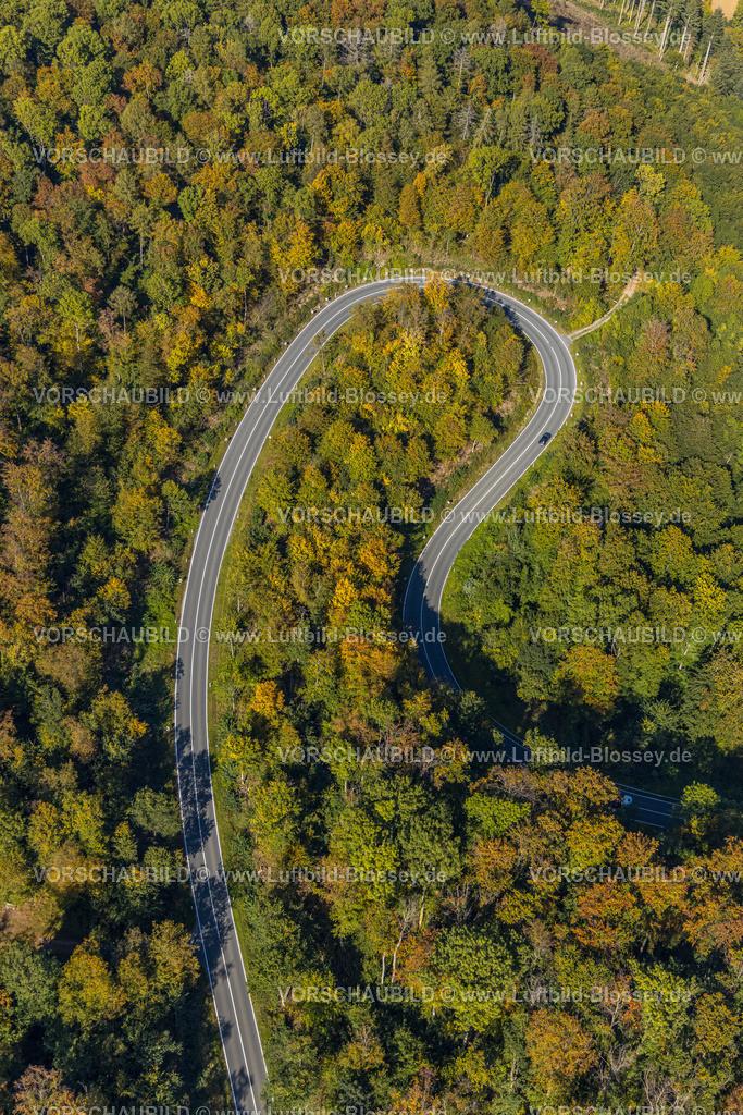 Beverungen200911497Jakobsberg_L838   Luftbild, Serpentinenstraße im Waldgebiet, nördlich von Jakobsberg, Beverungen, Ostwestfalen-Lippe, Nordrhein-Westfalen, Deutschland