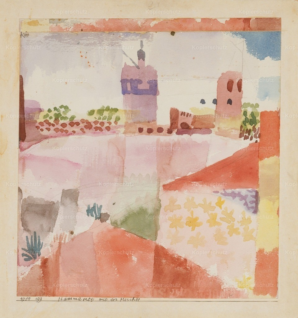 Klee_ Paul (1879-1940) - Hammamet with its Mosque 1914