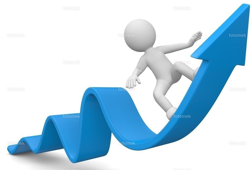 3d Männchen Gewinn Wachstum nach oben