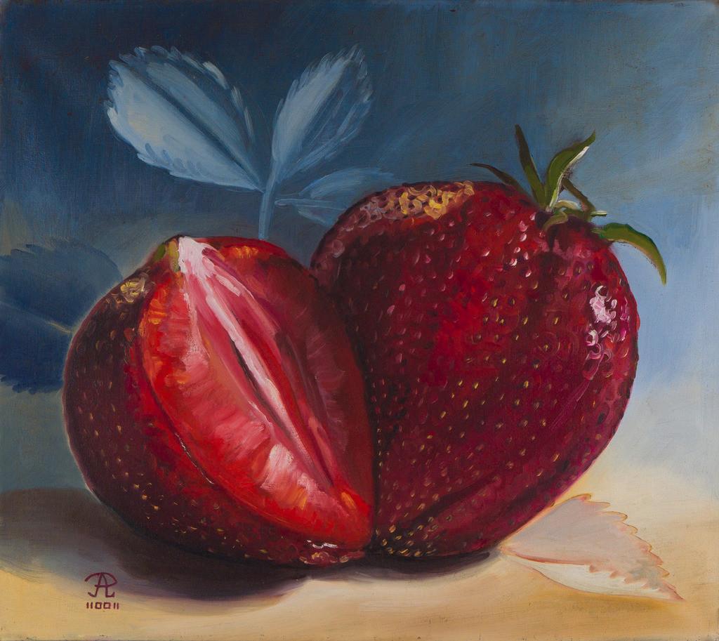 Erdbeeren | Originalformat: 44x50cm  -  Produktionsjahr: 2002