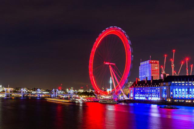 London Eye Nachtaufnahme