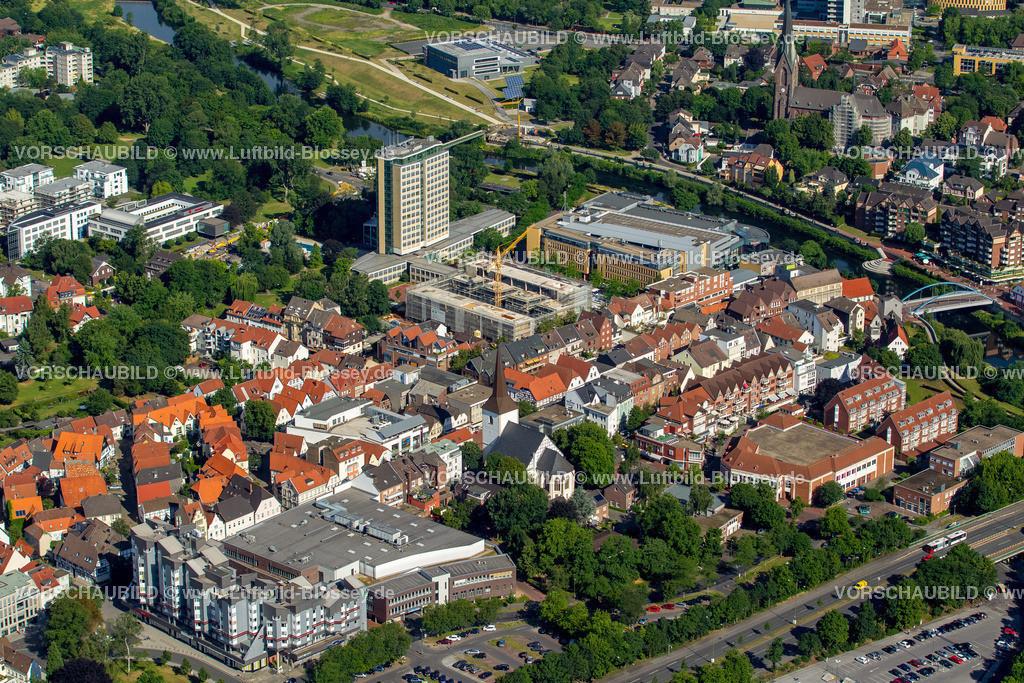 Luenen15071897 | Blick auf den Stadtkern von Lünen mit dem Umbau des Hertie-Hauses, Lünen, Ruhrgebiet, Nordrhein-Westfalen, Deutschland