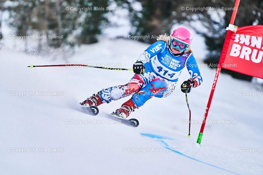 ALS5772_WWMG_GS-II_C   (C) FotoLois.com, Alois Spandl, WinterWorldMastersGames 2020 Innsbruck, Giant Slalom-II Gruppe C Damen, Patscherkofel Olympiaabfahrt, Mi 15. Jänner 2020.