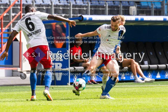 Fußball, Herren, Testspiel, Hamburger SV - FC Hansa Rostock, Volksparkstadion, 09.08.2020 | Manuel Wintzheimer (#19 HSV)