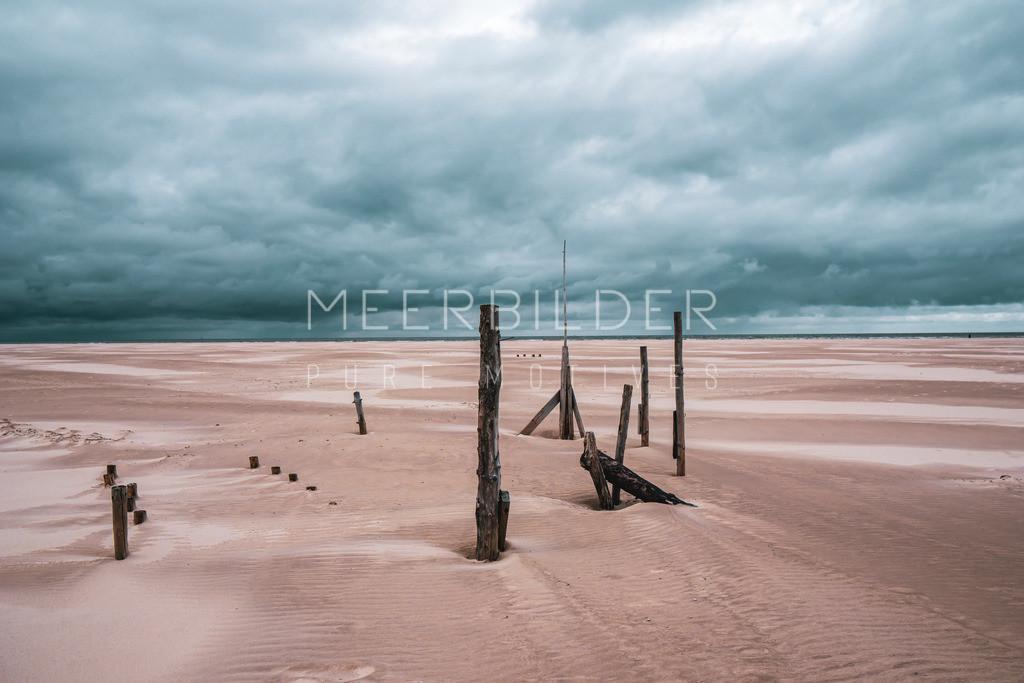 Meer Bilder Nordsee   Mystisches Nordsee Bild: Mystische Strandbilder als Wandbild auf Alu Dibond, Leinwand oder Acrylglas.