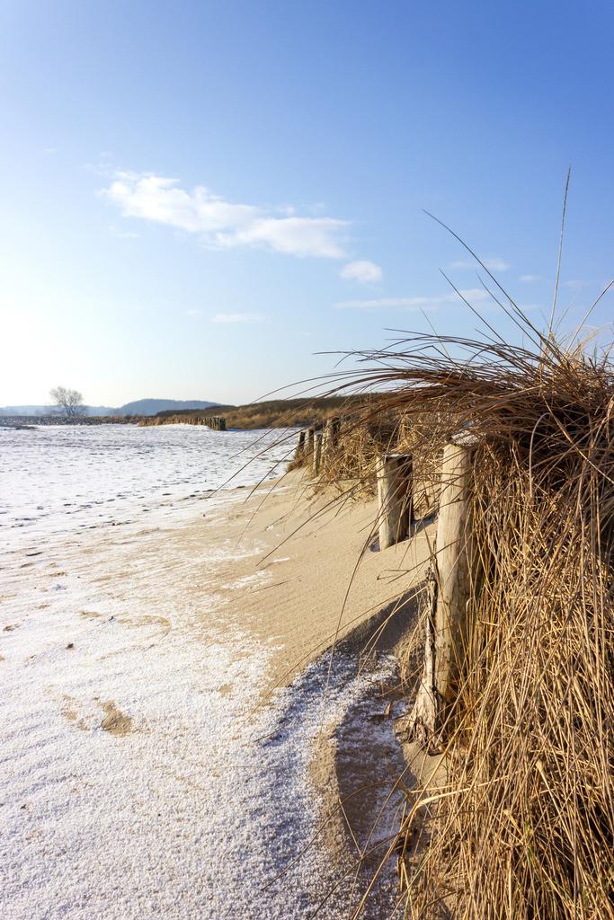 Strand in Damp | Schnee am Strand in Damp